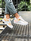 Кроссовки женские Nike Air force shadow White Grey Brown 40, разм, фото 8