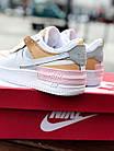 Кроссовки женские Nike Air force shadow White Grey Brown 40, разм, фото 9
