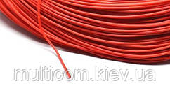 07-11-009RD. Провод монтажный многожильный 22AWG (0,33мм²), силиконовый, красный, 305м/бухта