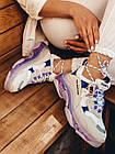 Кроссовки женские Balenciaga Triple S white purple бело-фиолетовые 39 разм, фото 4