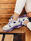 Кроссовки женские Balenciaga Triple S white purple бело-фиолетовые 39 разм, фото 6