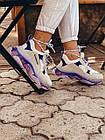 Кроссовки женские Balenciaga Triple S white purple бело-фиолетовые 39 разм, фото 8