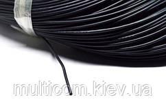 07-11-015BK. Провод монтажный многожильный 16AWG (1,31мм²), силиконовый, черный, 200м/бухта
