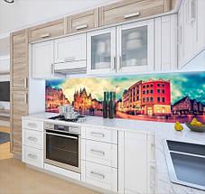 Виниловая скинали на кухонный фартук старинные улочки, с защитной ламинацией, 60 х 200 см., фото 2