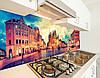 Виниловая скинали на кухонный фартук старинные улочки, с защитной ламинацией, 60 х 200 см., фото 4