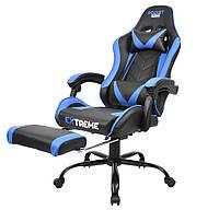 Офисное кресло с подставкой для ног Кресло Стул ROCKET Комп'ютерне геймерське крісло з підставкою для ніг НОВЕ