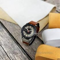 Оригинальные мужские часы кожанный ремешок  Curren 8374 Brown-Silver-Black / Часы курен оригинал, фото 3