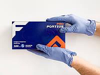 Синтетические нитриловые перчатки FORTIUS PRO, L (8-9), фиолетовые, 100 шт