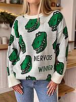 Жіночий В'язаний светр «Діно», фото 1
