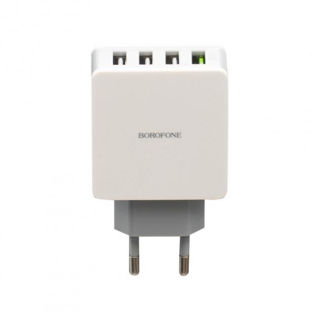 Сетевое зарядное устройство Borofone BA43A QC3.0 4USB White