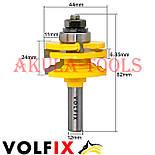 Комбінована рамкова фреза VOLFIX FZ-120-991 d12 для меблевої обв'язки, фото 6