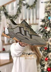Мужские кроссовки Adidas OZWEEGO хаки / кросівки адідас (Топ реплика ААА+)