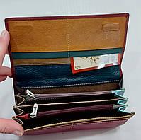 Женский кожаный кошелек с визитницей Balisa 149-581 бордовый Кожаные кошельки оптом Одесса 7 км, фото 4