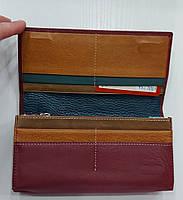 Женский кожаный кошелек с визитницей Balisa 149-581 бордовый Кожаные кошельки оптом Одесса 7 км, фото 3