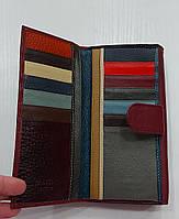Женский кожаный кошелек с визитницей Balisa 149-581 бордовый Кожаные кошельки оптом Одесса 7 км, фото 5