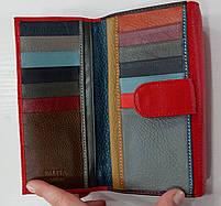 Женский кожаный кошелек с визитницей Balisa 149-581 красный Кожаные кошельки оптом Одесса 7 км, фото 5