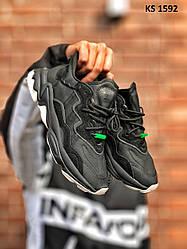 Мужские кроссовки Adidas OZWEEGO адидас, черные / кросівки адідас (Топ реплика ААА+)