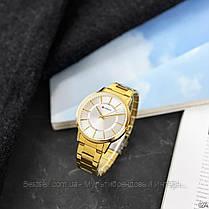 Оригинальные мужские часы стальной ремешок Curren 8385 Gold-White / Часы курен оригинал, фото 3
