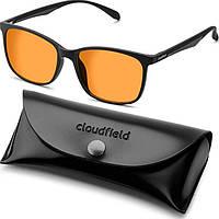 Очки для компьютера защитные NewGlass Cloudfield компьютерные очки черные с оранжевыми линзами