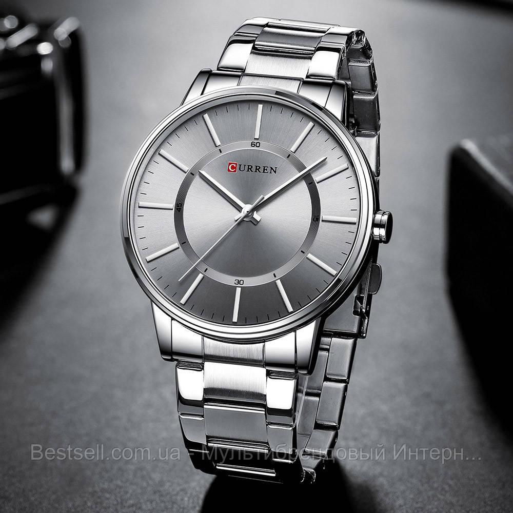 Оригинальные мужские часы стальной ремешок  Curren 8385 Silver-Gray / Часы курен оригинал
