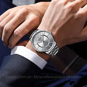 Оригинальные мужские часы стальной ремешок  Curren 8385 Silver-Gray / Часы курен оригинал, фото 2