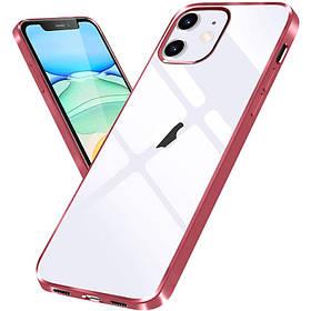 """Прозрачный силиконовый чехол с глянцевой окантовкой для Apple iPhone 12 mini (5.4"""")"""