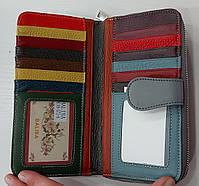 Женский кожаный кошелек с визитницей Balisa 149-572 серый Кожаные кошельки оптом Одесса 7км, фото 3
