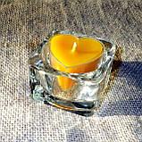 Стильный настольный квадратный стеклянный подсвечник для чайных свечей, фото 8