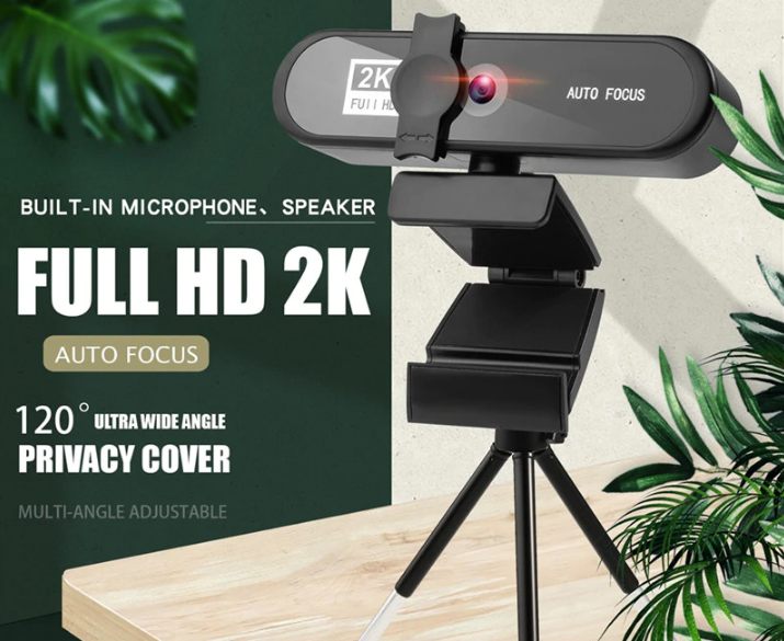 Веб камера 8МП. с микрофоном и штативом 1080 FullHD