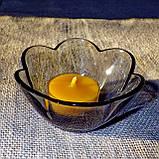Стильный настольный стеклянный подсвечник Цветок для чайных свечей, фото 4