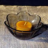 Стильный настольный стеклянный подсвечник Цветок для чайных свечей, фото 5