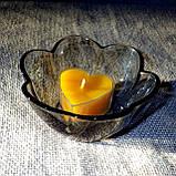 Стильный настольный стеклянный подсвечник Цветок для чайных свечей, фото 6