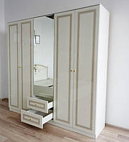 Шкаф комбинированный 5-х дверный Стелла