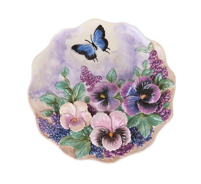 Декоративная тарелка Бабочка в цветах 20 см 59-563