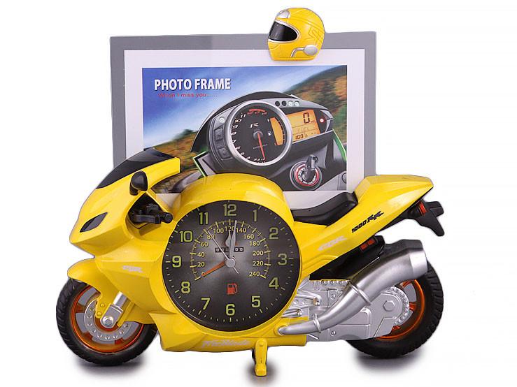 Фоторамка настільна з годинником Lefard Мотоцикл 39-217