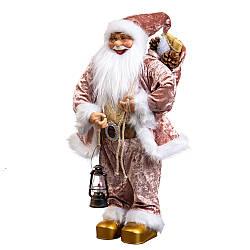 Фигура Lefard Санта с подсвечником 60х12 см махровый 6012-003