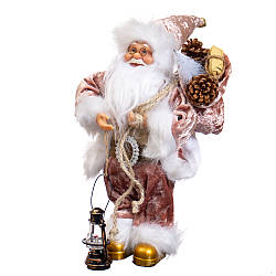 "Фигура Lefard Санта с подсвечником"" багровый 48х30 см 6012-002"