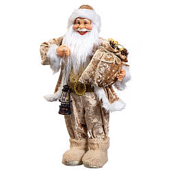 Фигура Lefard Санта с подсвечником бежевый 60х12 см 6012-001