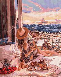Картина по номерам Девушка у окна Романтическое утро 50х40см