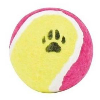 Игрушка для собак ROCI теннисный мяч с лапкой, Д-10 см