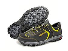 Кроссовки мужские спортивные черные с желтым, фото 2