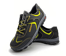 Кроссовки мужские спортивные черные с желтым, фото 3