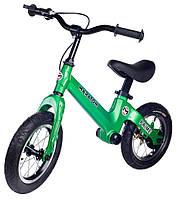 """Беговел Maraton Prime магниевая рама, ручной тормоз, надувные колеса 12"""" зеленый"""