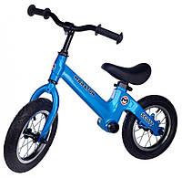 """Беговел Maraton Scott магниевая рама, надувные колеса 12"""" синий"""