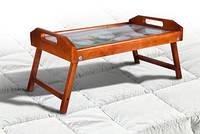 Столик для сніданку-скло тюльпани250*550*350яблоня