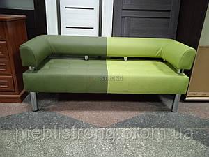 Диван для кафе, бара, ресторана Стронг Mix (MebliSTRONG) - темно-светло зеленый матовый цвет