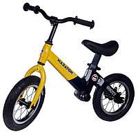 """Беговел Maraton Scott магниевая рама, надувные колеса 12"""" желтый"""