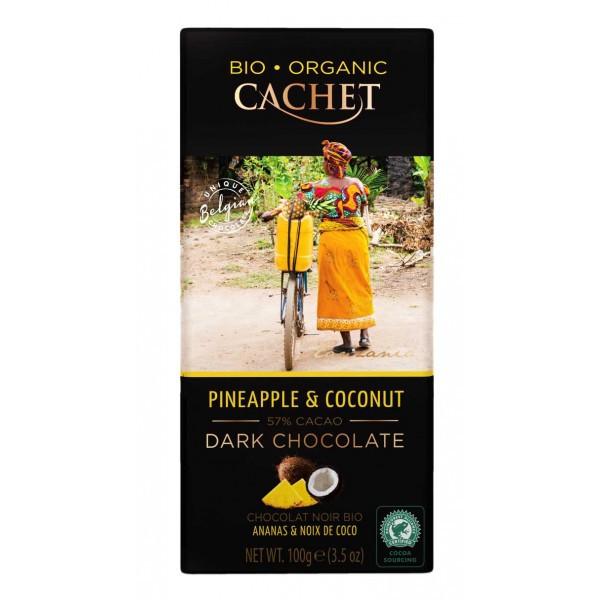 Шоколад чорний Cachet Bio Organic Cherries & Almonds, 100 г Бельгія