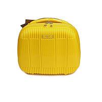 Дорожный пластиковый бьюти-кейс для косметики и мелочей Airtex 637 желтый, фото 1