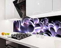 Кухонный фартук на виниловой пленке с 3д шарами светящимися, с защитной ламинацией, 60 х 200 см.